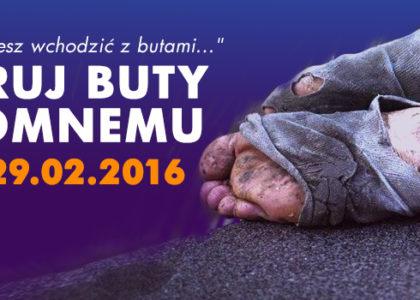 Podaruj buty bezdomnemu