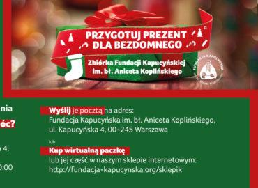 Obdarujmy Bezdomnych na Święta!